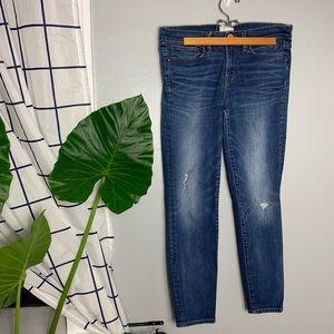 J. Crew Distressed Toothpick Skinny Jeans